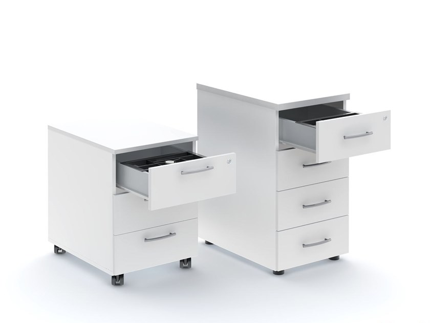 Office drawer unit with casters BASIC | Office drawer unit - MDD