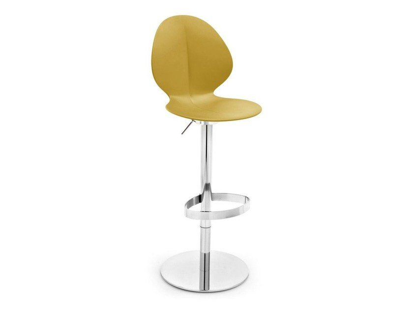 Counter stool with footrest BASIL | Swivel chair - Calligaris