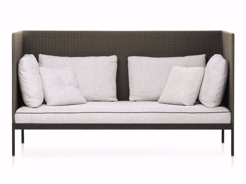 High-back garden sofa BASKET | Sofa - RODA