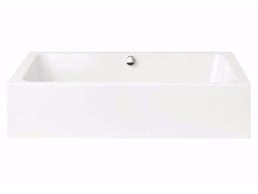 Rectangular enamelled steel bathtub BASSINO WITH PANELLING - Kaldewei Italia