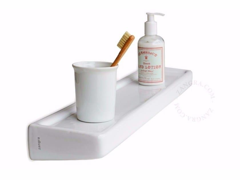 Porcelain bathroom wall shelf BATHROOM | Porcelain bathroom wall shelf - ZANGRA
