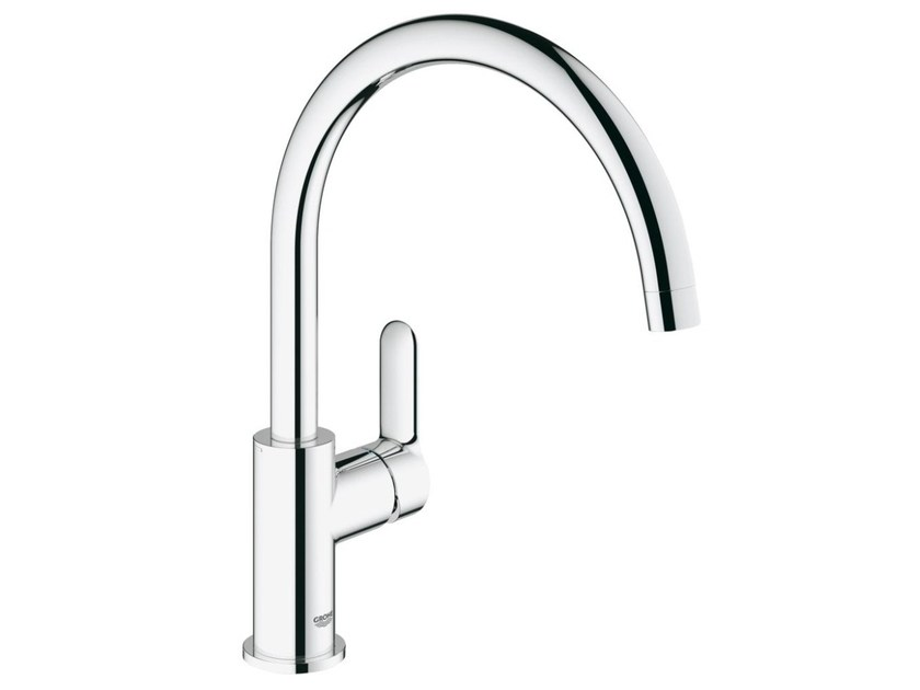Countertop 1 hole kitchen mixer tap with swivel spout BAUEDGE | Kitchen mixer tap - Grohe