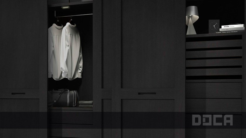 Oak wardrobe with sliding doors BAUS ROBLE 68 by Doca