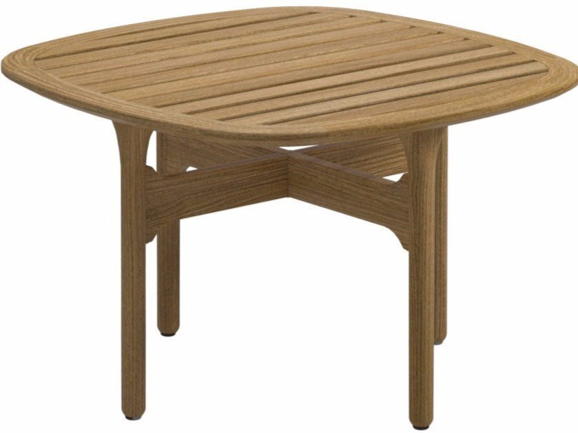 Square teak garden side table BAY | Garden side table - Gloster