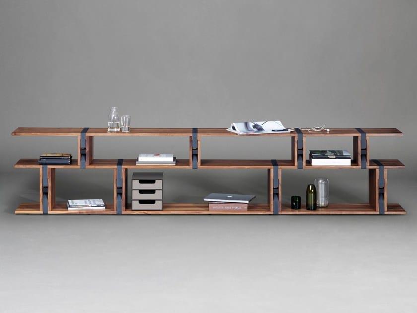 Libreria a giorno componibile in legno BB21 by Janua