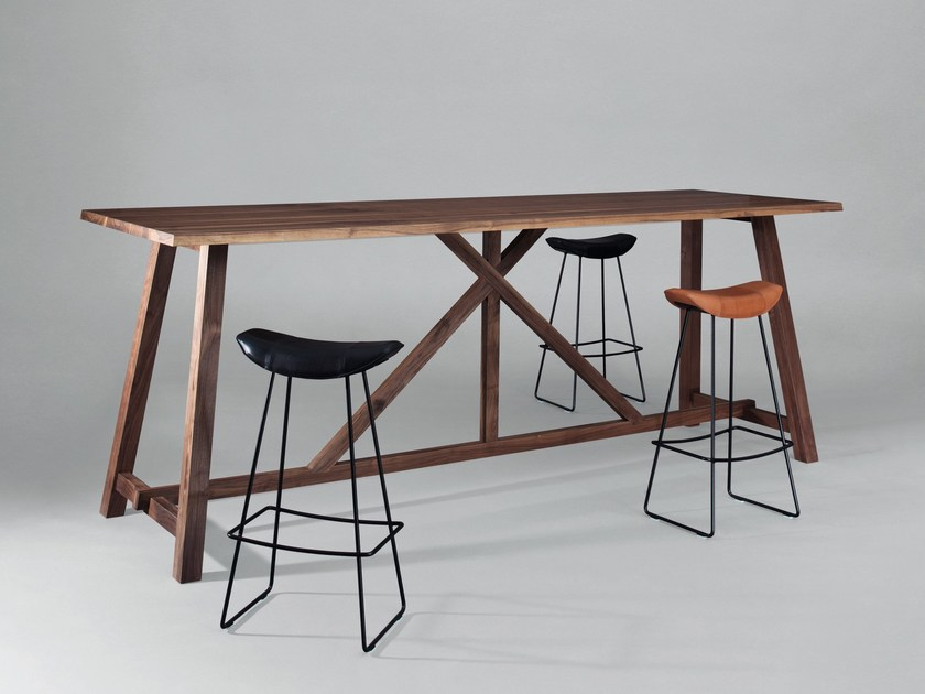 Rectangular wooden high table BC02 | High table by Janua