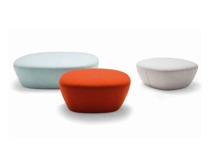 Upholstered fabric pouf BEAT - Andreu World