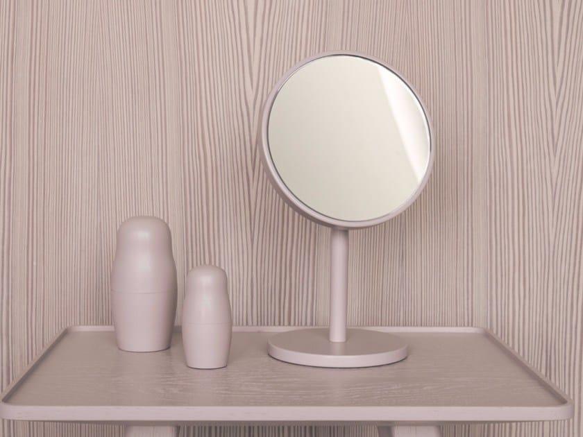 Specchio ingranditore rotondo da appoggio beauty sch nbuch - Specchio da appoggio ...
