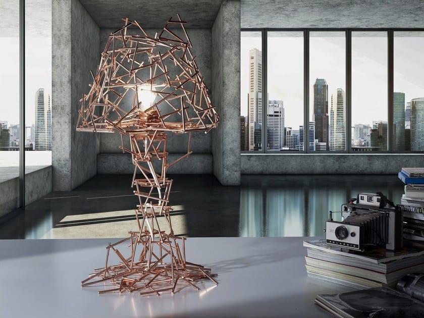 LED handmade metal table lamp BEAVER - BODEMA