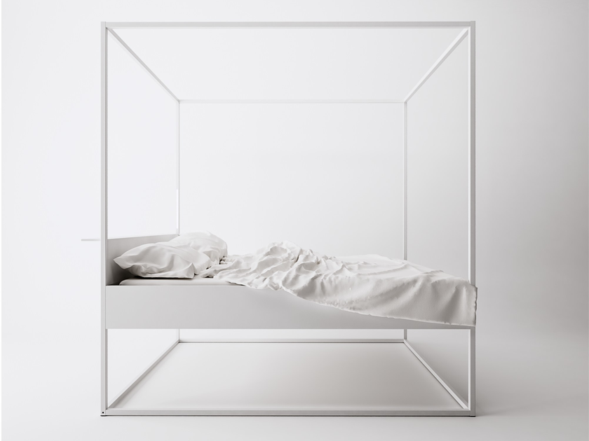 Painted metal canopy bed BED LED by FILODESIGN