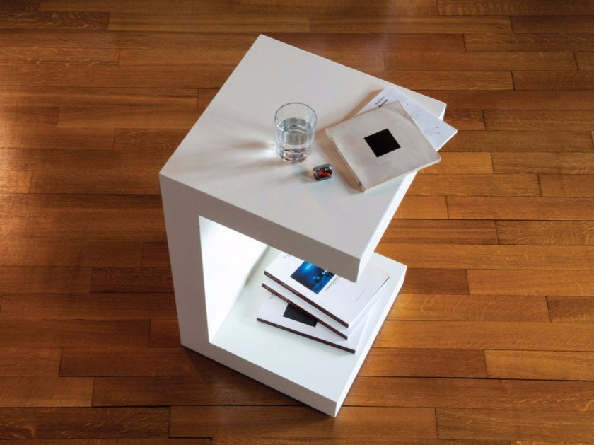 Lacquered bedside table with casters BEDDO by IFT