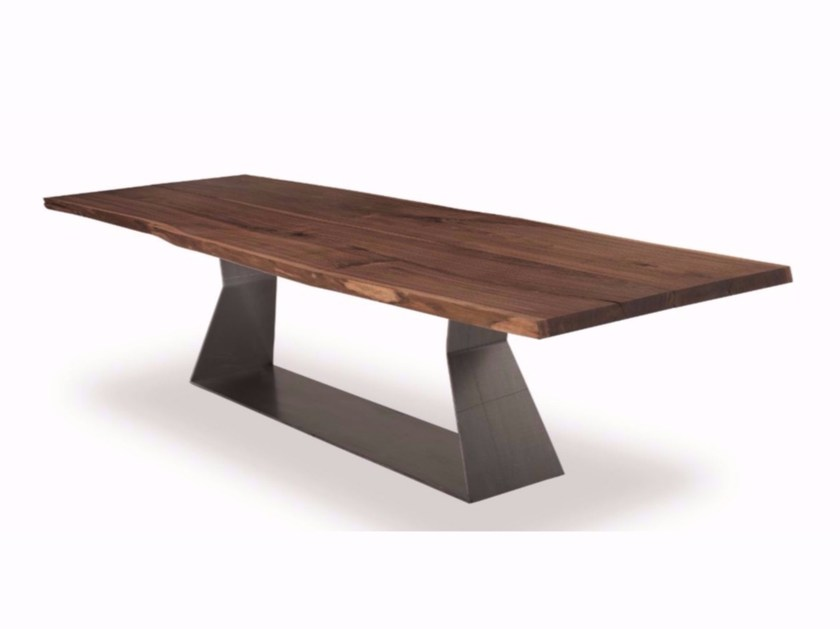 Rectangular solid wood table BEDROCK PLANK C - Riva 1920