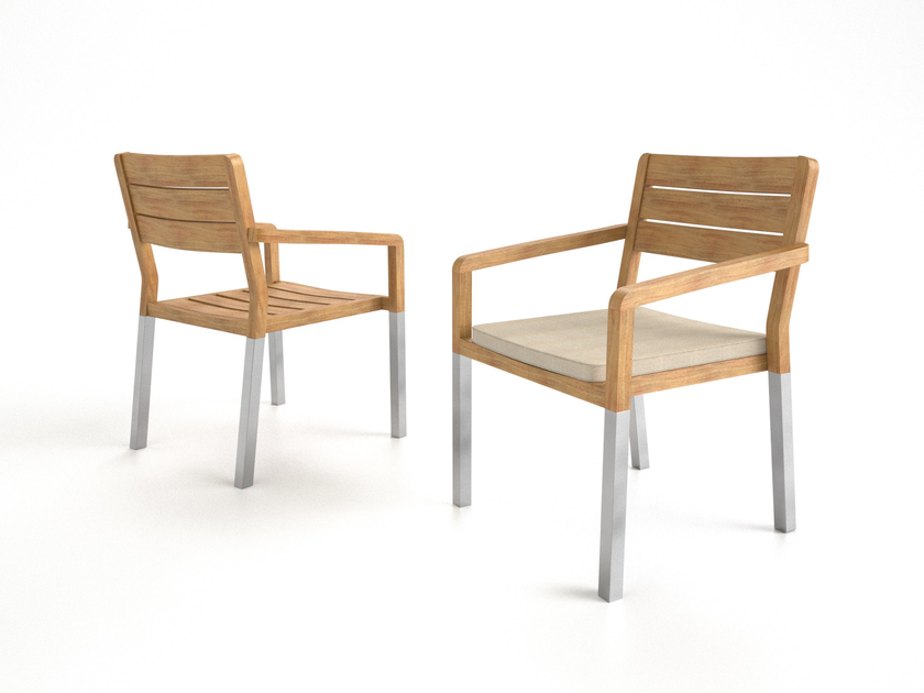 Foam garden chair with armrests BELIZE | Chair with armrests - Sérénité Luxury Monaco
