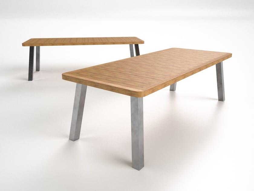 Rectangular aluminium dining table BELIZE | Dining table - Sérénité Luxury Monaco