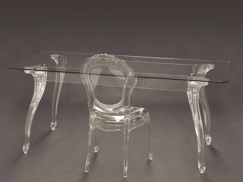 Tavolo rettangolare in policarbonato BELLE ÉPOQUE | Tavolo rettangolare - Dal Segno Design