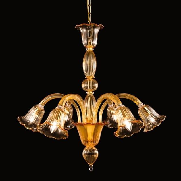 Classic style handmade glass chandelier BELLEPOQUE 394 | Murano glass chandelier - MULTIFORME