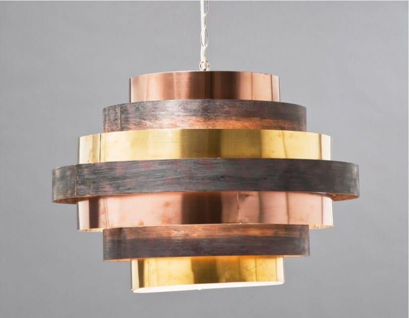 Indirect light steel pendant lamp BELT ROUND COFFEE - KARE-DESIGN