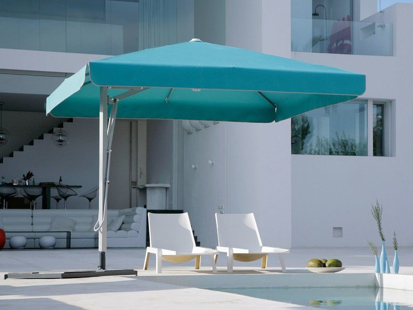 Offset square acrylic fabric Garden umbrella BELVEDERE | Square Garden umbrella - Michael Caravita