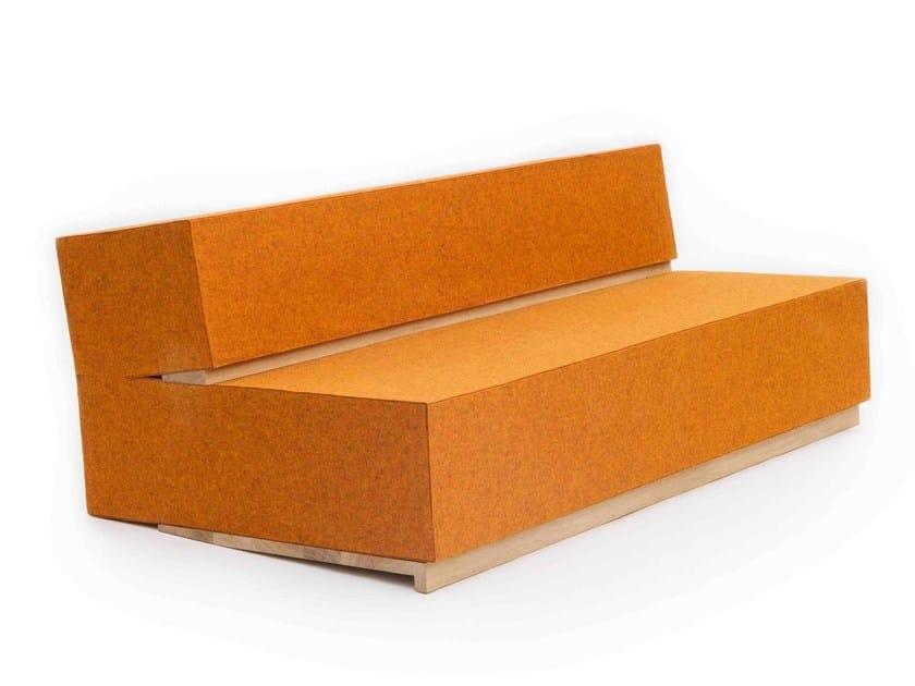 Thick wool sofa BENCHWOD - Moca