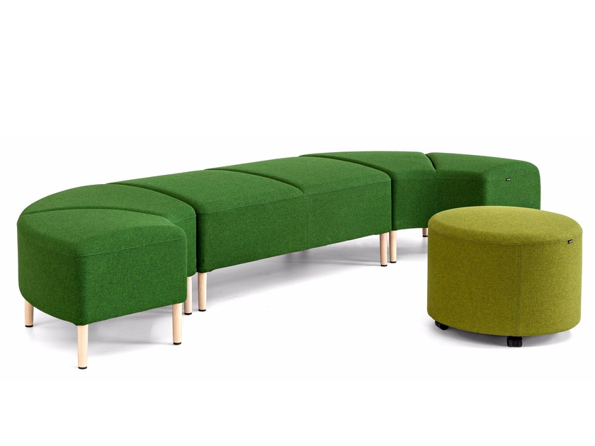 Modular fabric indoor bench BEND | Bench seating by ACTIU