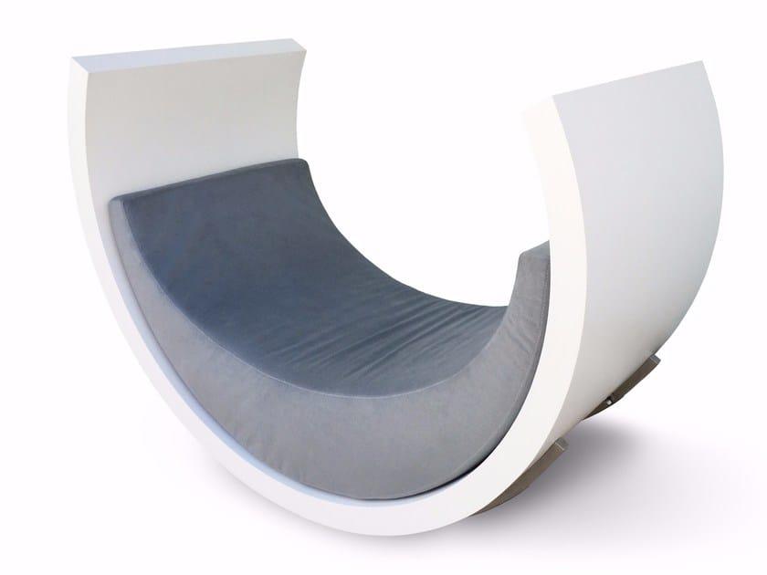 Rocking upholstered garden armchair BERÇO | Garden armchair - Se7e Life Design