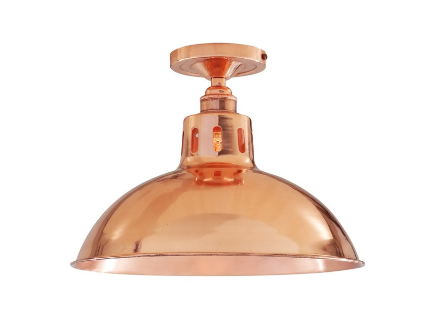 LED handmade copper ceiling light BERLIN VINTAGE CEILING FITTING - Mullan Lighting