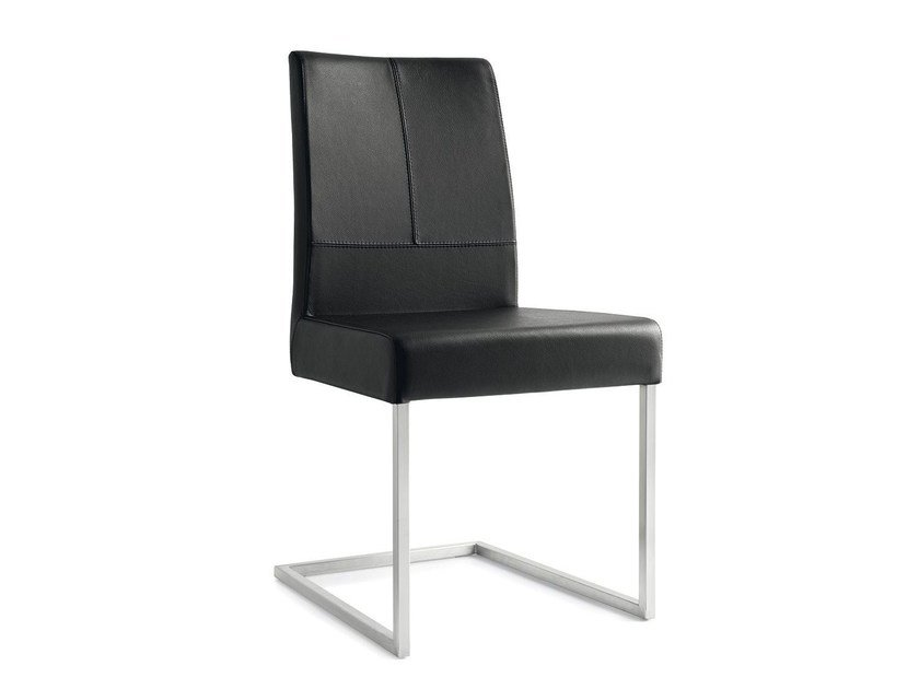 Cantilever leather chair BERLINER | Cantilever chair - Calligaris