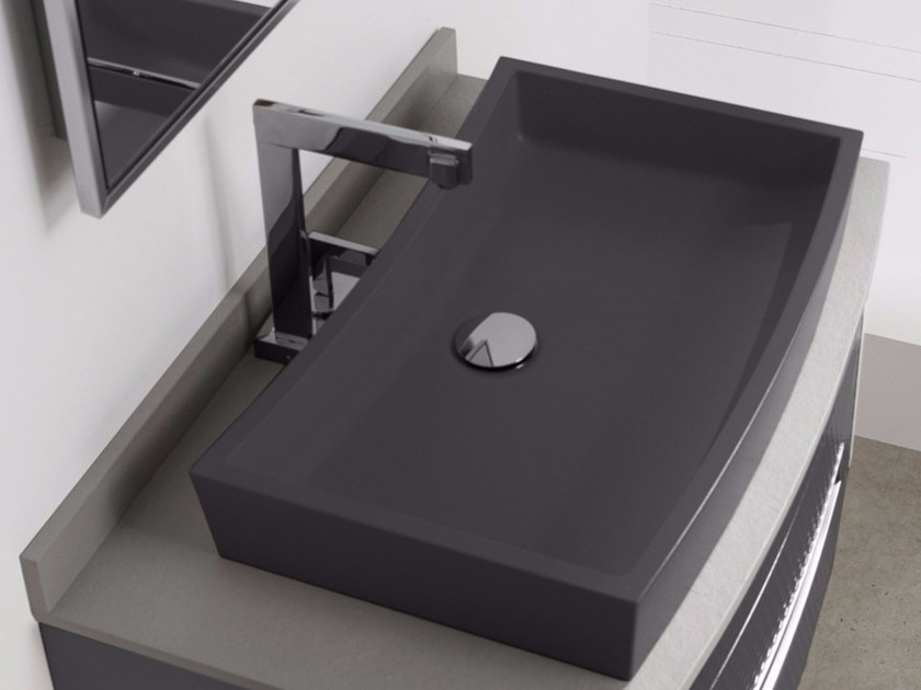 Countertop single Silexpol® washbasin BETA by Fiora