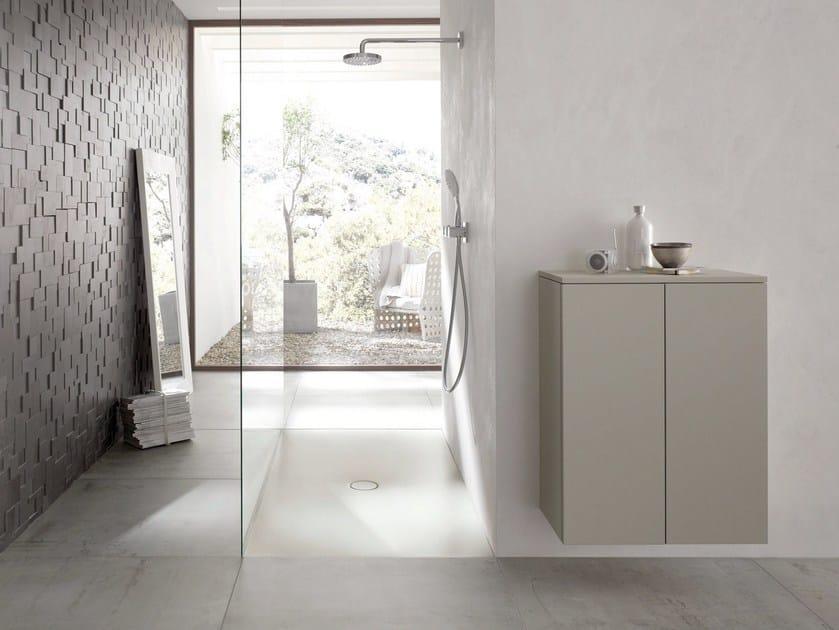 Flush fitting rectangular enamelled steel shower tray BETTEFLOOR SIDE | Rectangular shower tray - Bette