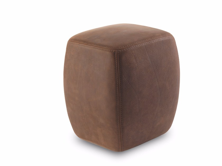 Upholstered leather pouf BETTY POUF & BETTY POUF SMALL by Riva 1920