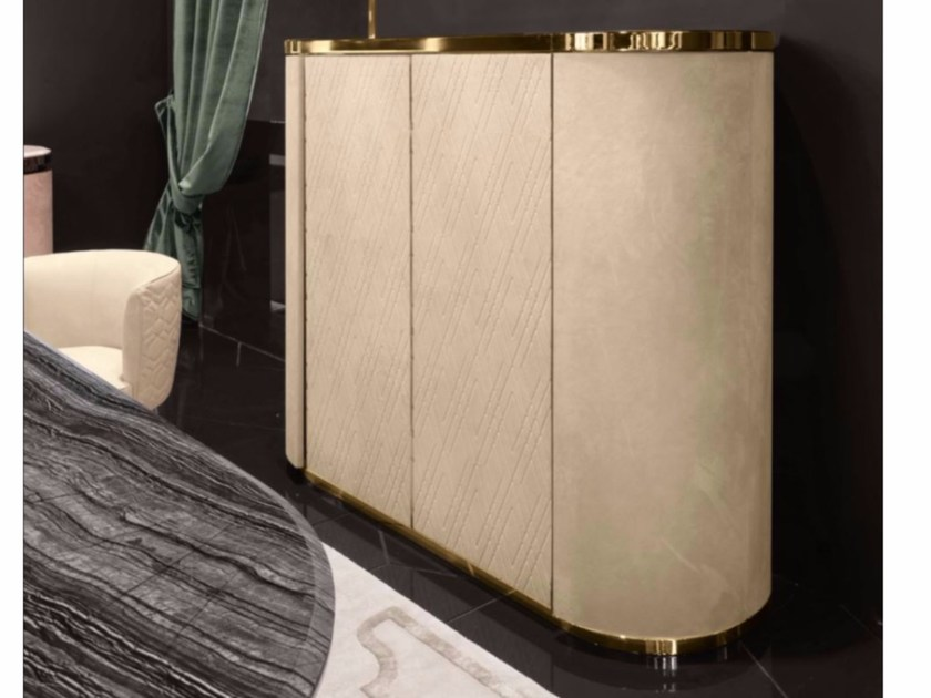 Leather bar cabinet BEVERLY - Longhi