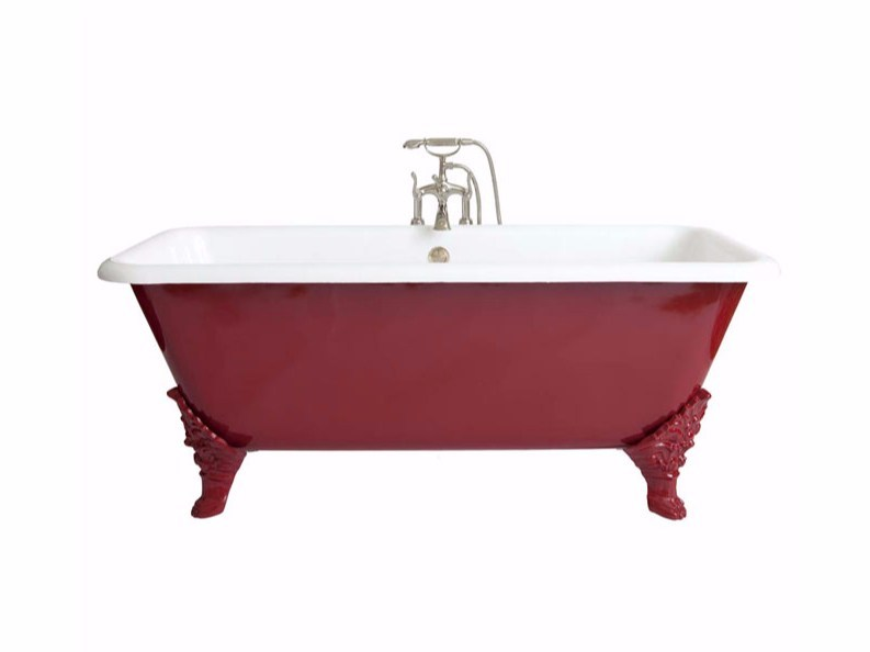 Vasca da bagno rettangolare in ghisa su piedi BEXLEY | Vasca da bagno - GENTRY HOME