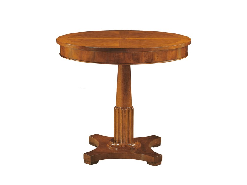 Round wooden coffee table BIEDERMEIER | Coffee table - Morelato