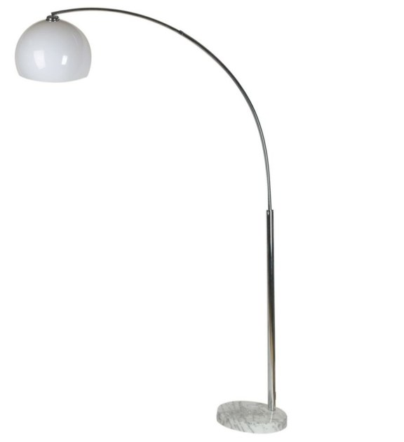 Contemporary style arc lamp BIG DEAL ECONO WHITE - KARE-DESIGN