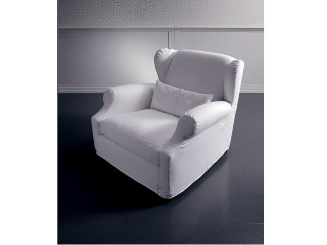 Fabric armchair with armrests BIG EDUARD | Fabric armchair - Marac