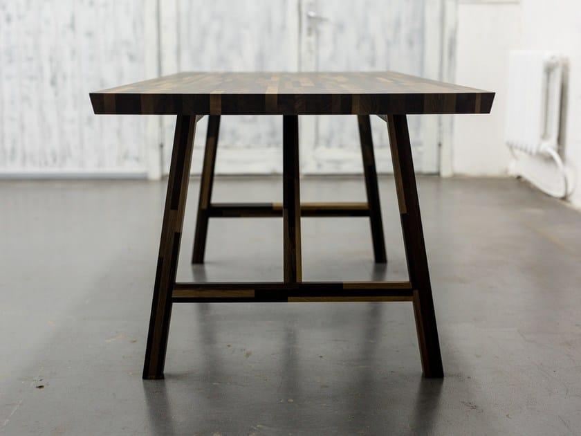Rectangular bog oak table BIG INDUSTRIAL by EDWOOD