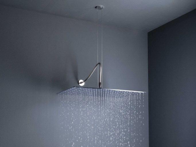 Soffione doccia a pioggia a soffitto in ottone con sistema anticalcare big rain soffione - Soffione doccia soffitto ...