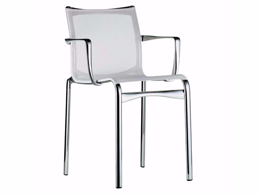Stackable mesh chair with armrests BIGFRAME - 440 - Alias