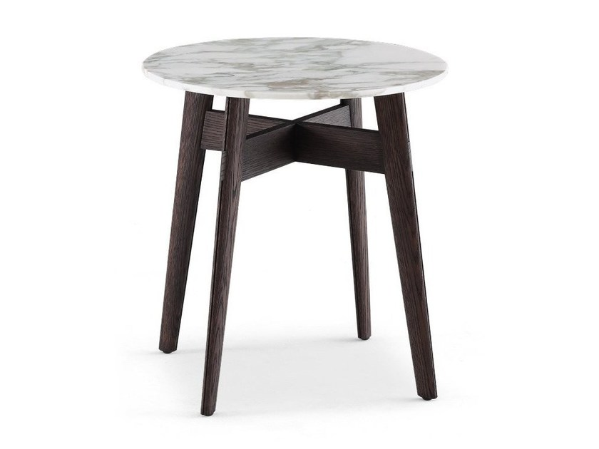 Round marble coffee table BIGGER | Coffee table - Poliform