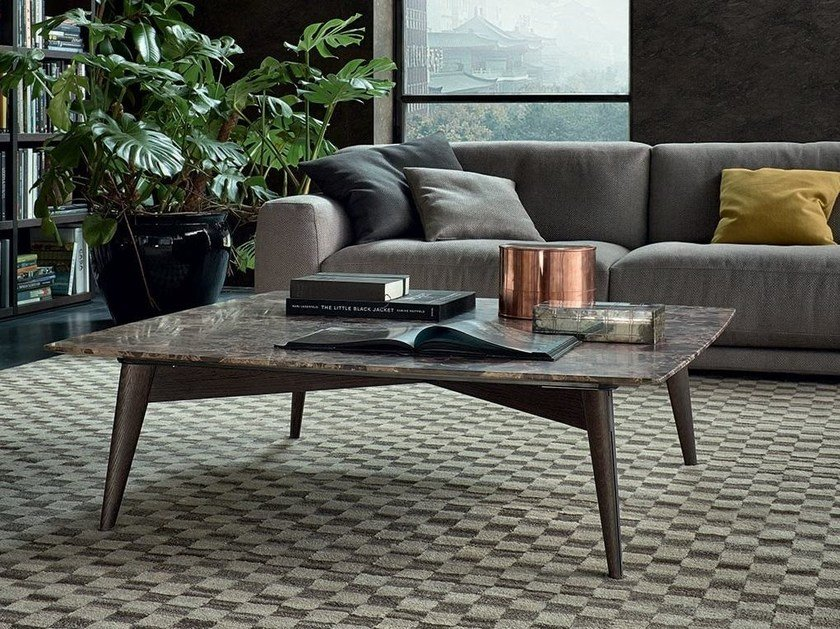 Square marble coffee table BIGGER | Square coffee table by poliform