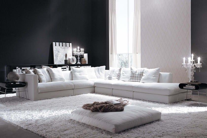 Corner sectional fabric sofa BILBAO | Corner sofa - FRIGERIO POLTRONE E DIVANI