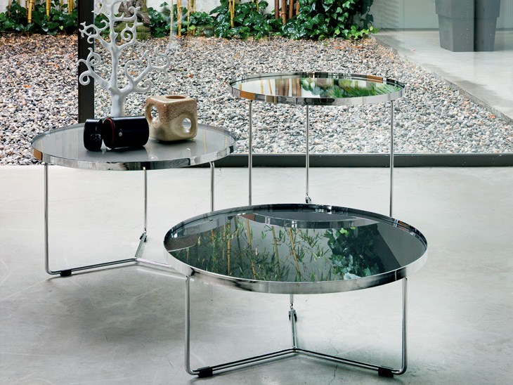 round crystal coffee table billycattelan italia
