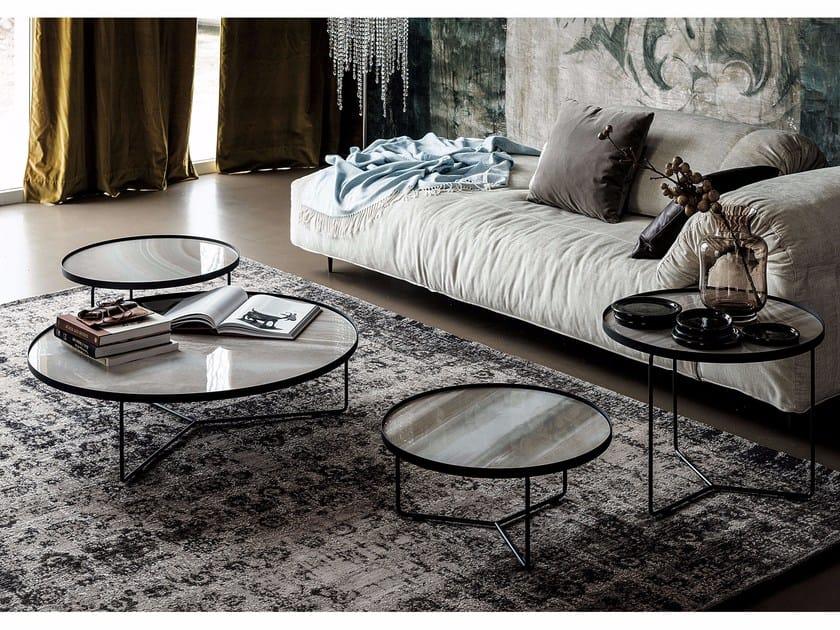 Low round ceramic coffee table BILLY KERAMIK by Cattelan Italia