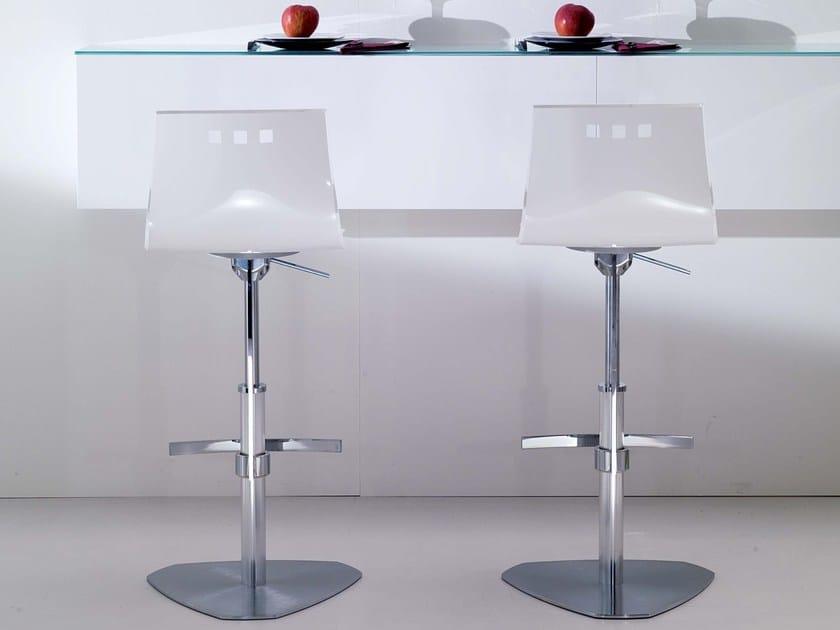 Vitrex counter stool with footrest BINGO - Ozzio Italia