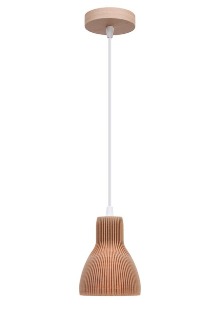 Contemporary style wooden pendant lamp BIO C by luxcambra