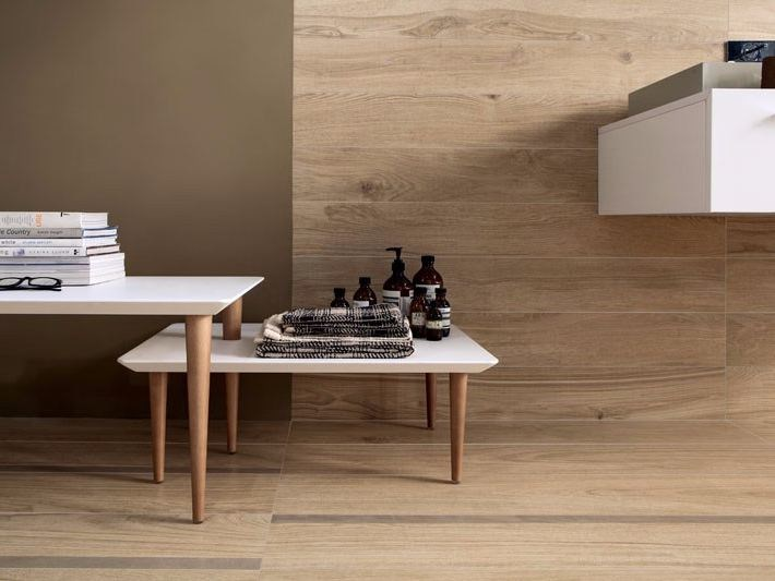 Antibacterial wall/floor tiles with wood effect BIO TIMBER MICROBAN® - LEA CERAMICHE