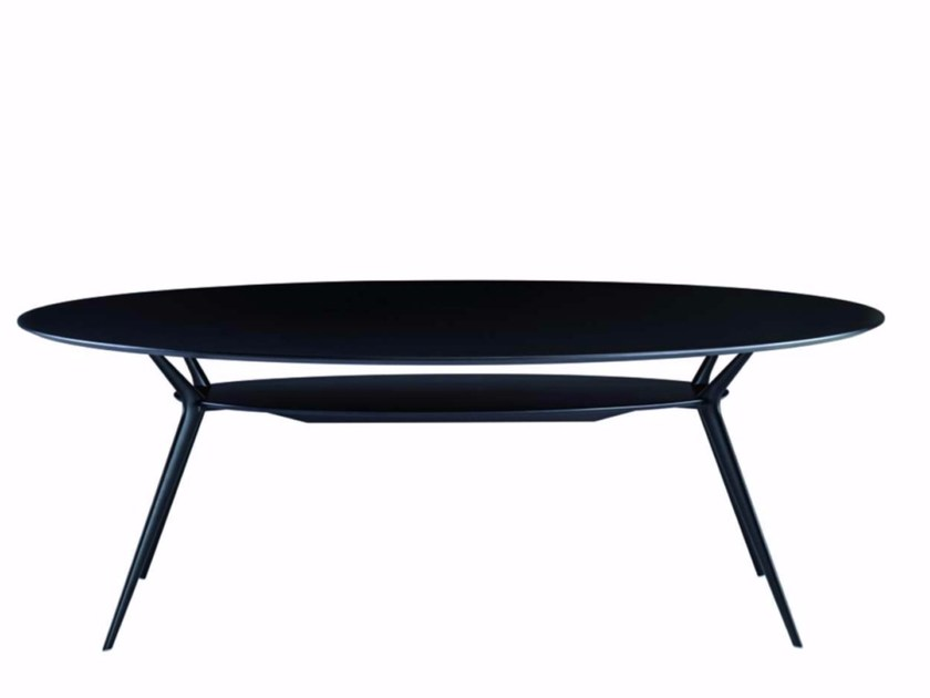Lacquered oval table BIPLANE - 407 by Alias