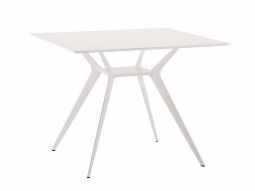 Square table BIPLANE 90X90 - 400_O - Alias