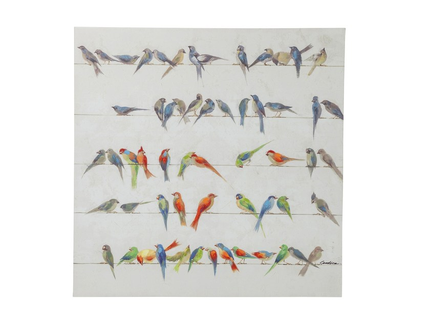 Canvas print BIRD MEETING 100x100 - KARE-DESIGN