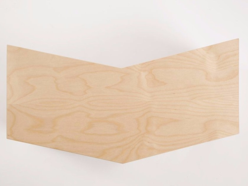 Multi-layer wood wall shelf BIRDY - MALHERBE EDITION